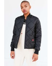 Dickies Quilted Bomber Jacket - Black