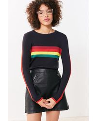 Cooperative Rainbow Striped Pullover Sweater - Blue