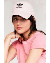 Lyst Adidas Originals Originals Entspannte Strapback Baseballmütze in Pink