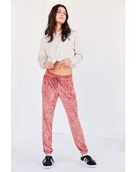 Out From Under - Velvet Jogger Pant - Lyst