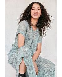 Kimchi Blue - Sparrow Sheer Drop-waist Midi Dress - Lyst