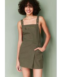 BDG - Jessy Wrap-front Overall Mini Dress - Lyst