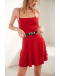Kimchi Blue - Sydney Straight-neck Fit + Flare Mini Dress - Lyst