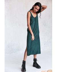 Cooperative Daphne Scoop-back Midi Slip Dress - Green