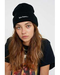 iets frans Flat Knit Beanie - Black