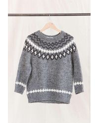 Urban Renewal - Vintage Nordic Grey Sweater - Lyst
