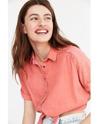 BDG | Jena Tie-front Blouse | Lyst
