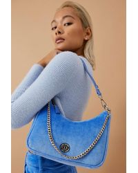 Urban Outfitters - Uo Velour Chain Accent Shoulder Bag - Lyst