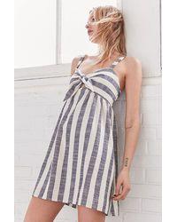 Cooperative - Tie-front Striped Mini Dress - Lyst