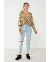 Silence + Noise - Slouchy Chenille High/low Sweater - Lyst
