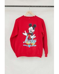 Urban Renewal - Vintage Red Mickey Mouse Crew Neck Sweatshirt - Lyst