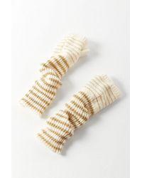 Urban Outfitters Glitter Striped Fingerless Glove - White