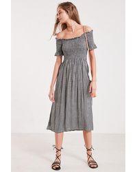 Kimchi Blue - Off-the-shoulder Smocked Midi Dress - Lyst