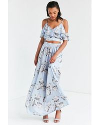 Oh My Love - Veratrum Floral High-rise Maxi Skirt - Lyst