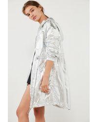 Volcom - Stone Row Metallic Rain Coat - Lyst