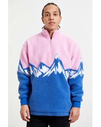 Lazy Oaf - Snow Mountain Zip Fleece Sweatshirt - Lyst