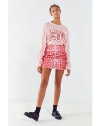 Kye Jacquard Crew-neck Sweater - Pink
