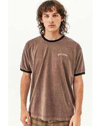 BDG Brown & Navy Ringer T-shirt