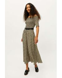 Dress Forum Smocked Off-the-shoulder Midi Dress - Black