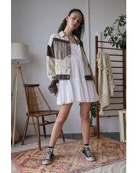 BDG Luca Patchwork Linen Jacket - Brown