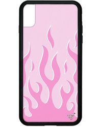 Wildflower Pink Flames Iphone Case