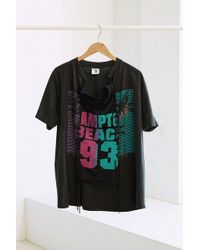 Urban Renewal - X Uo Design Vintage Chain Lace-up Pieced Tee - Lyst