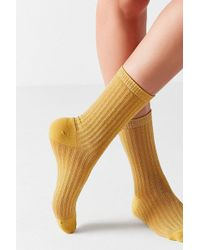 Out From Under - Glitter Striped Crew Sock - Lyst