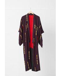 Urban Renewal - Vintage Red Lined Arrow Print Kimono - Lyst
