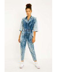 Urban Renewal Vintage One-of-a-kind '80s Acid Wash Denim Jumpsuit - Blue