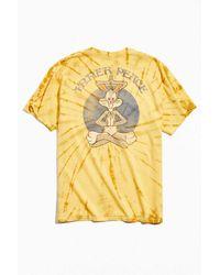 Junk Food Looney Tunes Tie-dye Tee - Yellow