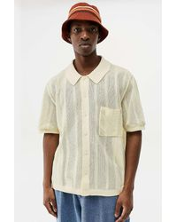 Urban Outfitters Uo Cream Stitched Button Shirt - White