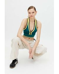Urban Outfitters Uo Clover Cropped Sweater Vest - Blue