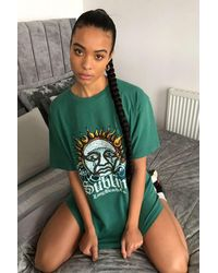 Urban Outfitters Uo Sublime Dad Tee Dress - Green