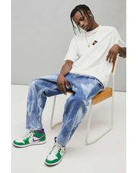 BDG Bow Jeans in Batikoptik - Blau