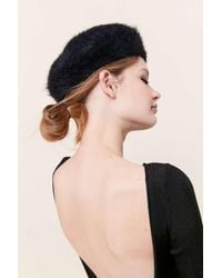 Urban Outfitters Fuzzy Beret - Multicolor