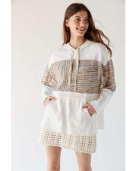 f85411066 Urban Outfitters - Uo Fletcher Colorblock Oversized Hoodie Sweatshirt - Lyst