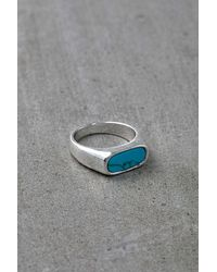 Urban Outfitters Stone Signet Ring - Metallic