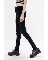 BDG Twig Ripped High-waisted Skinny Jean - Black