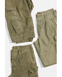 Urban Renewal Vintage Khaki Moleskin Cargo Shorts - Natural