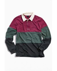 iets frans... Colorblock Long Sleeve Rugby Shirt - Purple