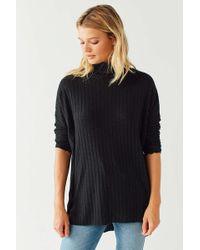 Out From Under Iona Ribbed Turtleneck Top - Black