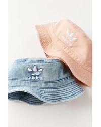 adidas Originals Denim Bucket Hat - Blue