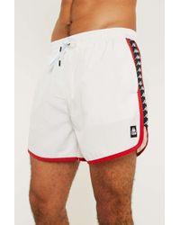 Kappa Authentic Agius White Swim Shorts