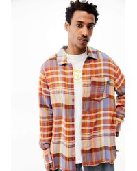 Urban Outfitters - Uo Pink Check Textured Shirt - Lyst