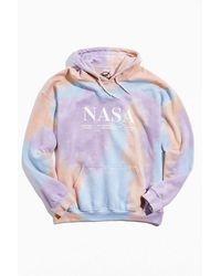 Urban Outfitters Nasa Tie-dye Hoodie Sweatshirt - Purple