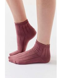 Urban Outfitters Ribbed Quarter Sock - Multicolour