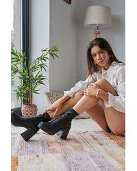 Urban Outfitters Uo Brink Platform Black Sock Boot