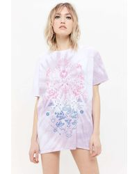 Project Social T Symbols Tie-dye T-shirt Dress - Multicolor