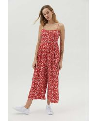 Urban Outfitters Uo Lola Tie-back Jumpsuit - Red