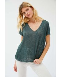 Project Social T Textured-knit V-neck Tee - Multicolor